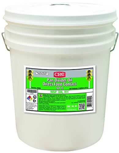 CRC 04590 Pan Divider Oil Direct Food CONTACT ISO 15, 5 gal , Colorless