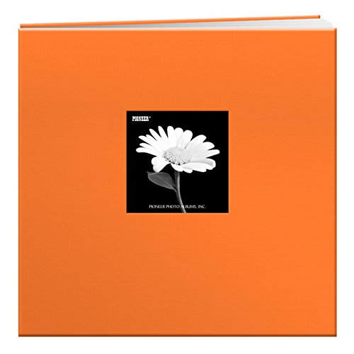 2-Inch Cloth Cover Postbound Memorybook with Window, Orange ()