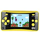 """JJFUN Portable Handheld Game Console,Arcade Entertainment Gaming System for Kids Retro FC Video Game Player 2.5"""" LCD Built-in 182 Classic Games,Birthday Present for Children(Yellow)"""