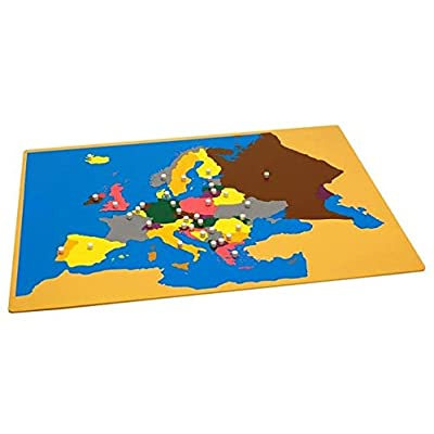 Elite Montessori Map of Europe Without Control Map: Toys & Games