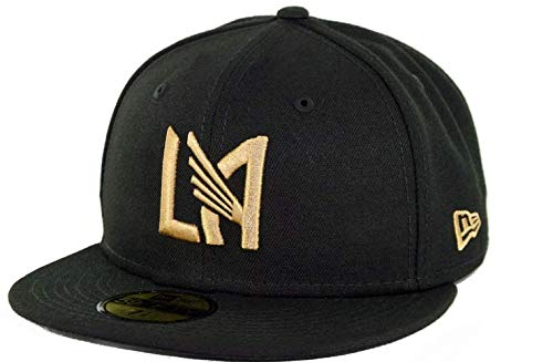 New Era Fitted 5950 Cap - New Era 5950 Los Angeles FC Fitted Hat (Black) Men's LAFC MLS Soccer Cap