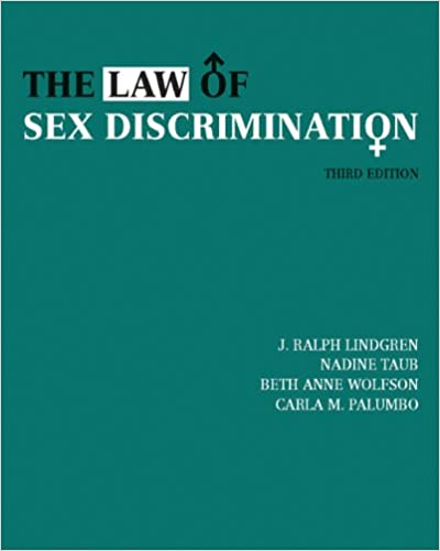 The law of sex discrimination 3rd edition