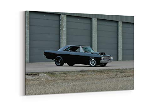 1968 Dodge Dart Resto Mod Muscle Drag Street Dragster Super USA 08 - Canvas Wall Art Gallery Wrapped 12