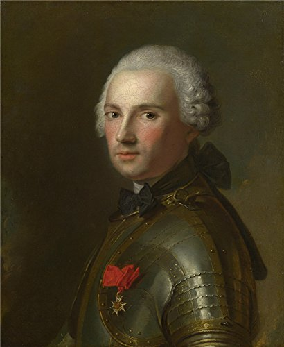 Embroidered Darling Jeans - The Polyster Canvas Of Oil Painting 'Jean Marc Nattier Portrait Of A Man In Armour ' ,size: 8 X 10 Inch / 20 X 25 Cm ,this Reproductions Art Decorative Prints On Canvas Is Fit For Bedroom Gallery Art And Home Gallery Art And Gifts