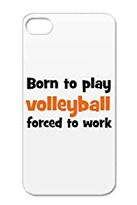Volleyball TPU Anti-scuff Volleyball Sports Miscellaneous Bronze Cover Case For Iphone 4/4s