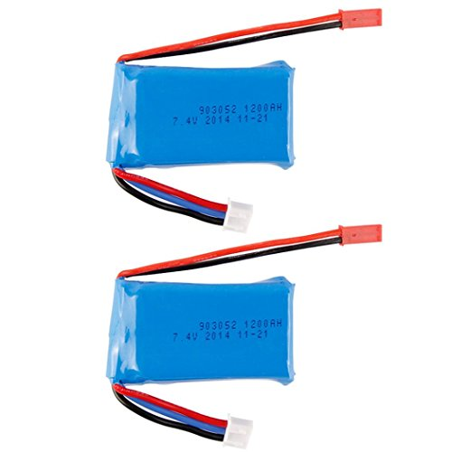 OVERMAL 2x RC Part 7.4V 1200mAh Battery for WLtoys VA949 A959 A969 A979 K929 Quadcopter (Boat Rc Gas Parts)