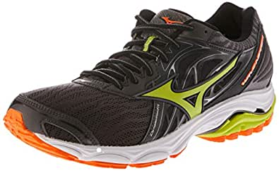 Mizuno Men's Wave Inspire Shoes, Magnet/Lime Punch/Vibrant Orange, 10 US