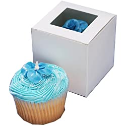 "Darice Cupcake Box with Window, 12Pieceper Package, 3-1/2""-by-3-1/2"