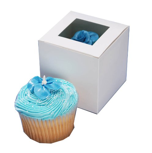 Darice Cupcake Box with Window, 12Pieceper Package, 3-1/2