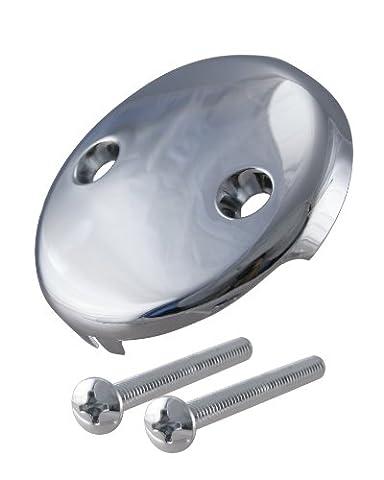 Westbrass 793Z-CP 2-Hole Overflow Bathtub Faceplate with Screws, Polished Chrome (Bathtub Overflow Elbow)