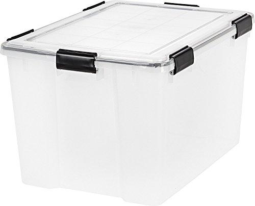 IRIS 74 Quart WEATHERTIGHT Storage Box, Clear, 4 pack by IRIS USA, Inc.