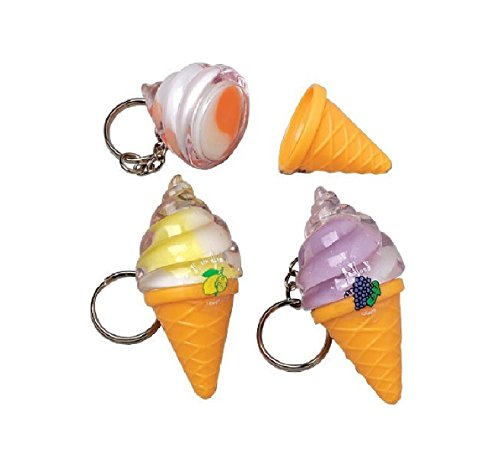 Ice Cream Lip Gloss Keychains (Set of 12) (Ice Cream Cone Lipgloss compare prices)