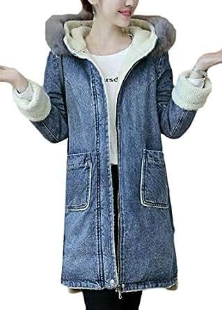 Amazon.com: Jotebriyo Women Lamb Wool Lined Hooded Winter