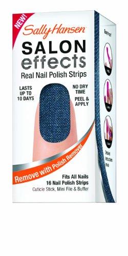 Amazon Sally Hansen Salon Effects Real Nail Polish Strips Skinny Jeans 16 Count Beauty