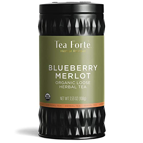 (Tea Forté Loose Leaf Tea - Blueberry Merlot Herbal Tea (Loose Tea Canister))