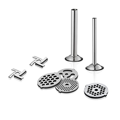 Food Grinder Attachment work with KitchenAid Stand Mixers Including Sausage Stuffer, All Stainless Steel,Dishwasher Safe, Durable Mixer Accessories as Meat Processor by GVODE (Image #5)