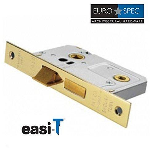64mm Bathroom Mortice Door Lock in Brass Finish BAE5025EB
