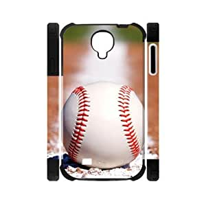 Canting_Good Baseball Custom Dual-Protective Case Shell Skin for Samsung Galaxy S4 I9500 3D by lolosakes by lolosakes
