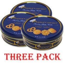 Original Gourmet Danish Style Premium Butter Cookies Tin