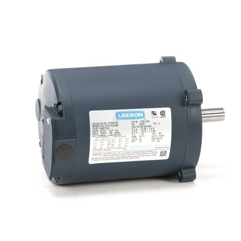 Leeson Electric 101648.00 - General Purpose Motor - 3 ph, 1/4 hp, 1800 rpm, 208-230/460 V, S56C Frame, Totally Enclosed Non Ventilated Enclosure, 60 Hz, Round Mount ()