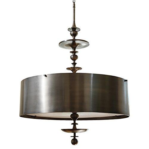 Hollywood Four Light Pendant (Karel Bronze Hollywood Regency Pendant Lamp - 30 Inch)
