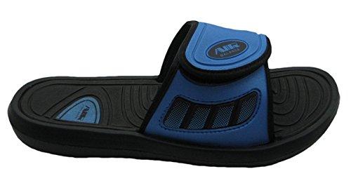 Air Boys Comode Pantofole Da Spiaggia Con Sandalo Da Spiaggia Con Cinturino Regolabile In Colori Di Classe Nero / Blu