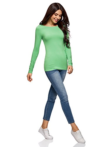 di Donna 3 oodji T Shirt Lunghe Pacco Maniche con 6500n Verde Collection 8wBw5AqxZ