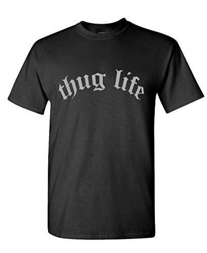 THUG LIFE - hip hop rap music tupac 2pac Tee Shirt T-Shirt, L, Black