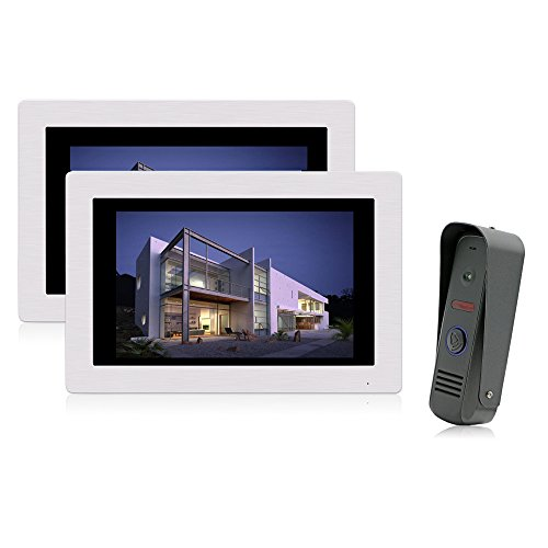 Jeatone 7 Inch Video Door Phone Doorbell Wired Intercom S...