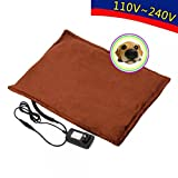 MyEasyShopping Safe Heated Warmer Bed Pad for Dog Cat/Reptile Pet Brown