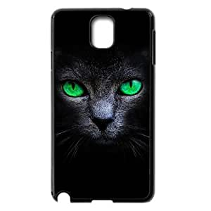 Customized Dual-Protective Case for Samsung Galaxy Note 3 N9000, Black Cat Cover Case - HL-R637422