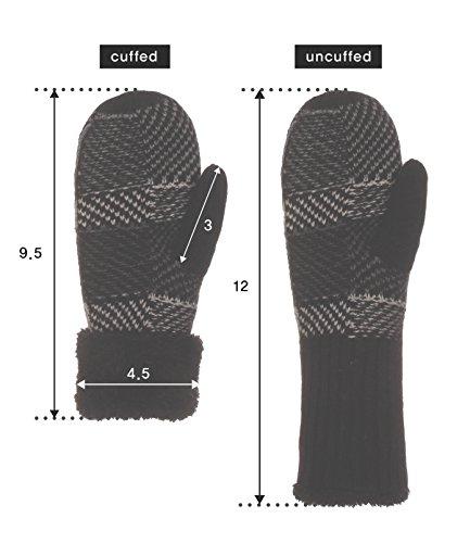 Emmalise Women's Mitten Knit Gloves Ivory