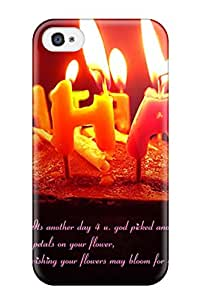 ZippyDoritEduard AhOFUet530YTHJM Case Cover Iphone 4/4s Protective Case Happy Birthday Cake And Candles