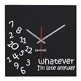 EasyHoKi Whatever Wall Clock, No Ticking, Funny Home Decor (Square)