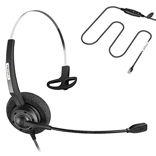Arama A200C Cisco Phone Headset w/Lightweight Secure-Fit Headband, Pro Noise Canceling Mic and in-line Controls for Cisco IP Phones:7841, 7942, 7945, 7960, 7961, 7962, 8841, 8961, 9951, 9971 etc