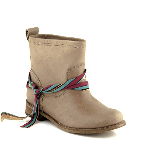 Felmini - Zapatos para Mujer - Enamorarse com Beja 9670 - Botas Classic - Cuero Genuino - Marrón claro Marrón claro