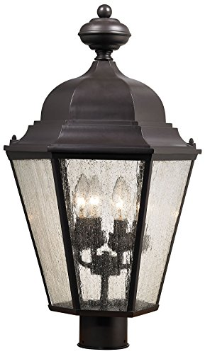 Cornerstone Lighting 8903EP/75 Cotswold 4 Light Exterior Post Lamp, Oil Rubbed Bronze