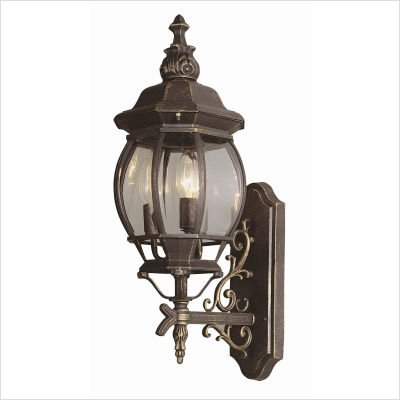 Trans Globe Lighting 4051 BC Francisco Outdoor Black Copper Tuscan Wall Lantern, 25
