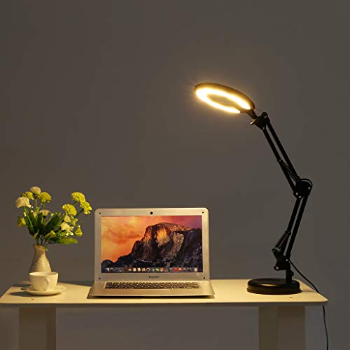 Clearance Sale!DEESEE(TM) Magnifier Task Lamp Adjustable Table Lamp Desktop Or Clamp-On Mounting Options