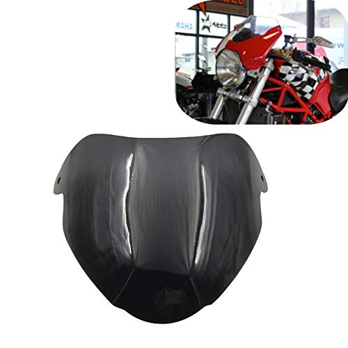 Motorcycle Windshield Windscreen Odometer Viser Visor for Ducati Monster 620 695 800 1000 S2R S4 S4R MS4R S4RS MS4RS Wind Screen Deflector (Black)