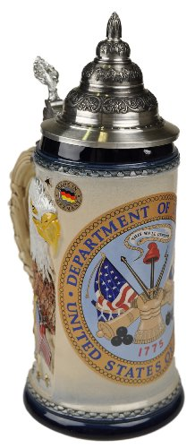 Beer Stein by King - US Army Coat of Arms Relief German Beer Stein (Beer Mug) .75l Limited by KING
