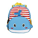 Bozdqun Unique Red Blue Whale Zoo Design Boys Girls Toddler Backpack