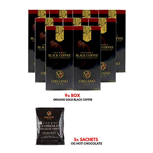 Buy 9 box of Organo Gold Gourmet Black Coffee FREE 5 Sachets of Hot Chocolate