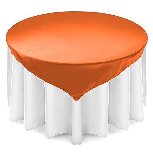 Lann's Satin Wedding Table Overlay - Tablecloth Topper (72