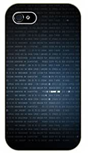 iPhone 4 / 4s Electronics and geek - Binary pattern - black plastic case / Inspirational and Motivational