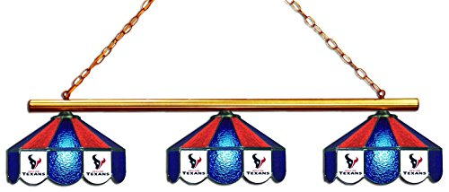 Imperial Officially Licensed NFL Merchandise: Tiffany-Style Stained Glass Billiard/Pool Table 3 Shade Light, Houston Texans by Imperial