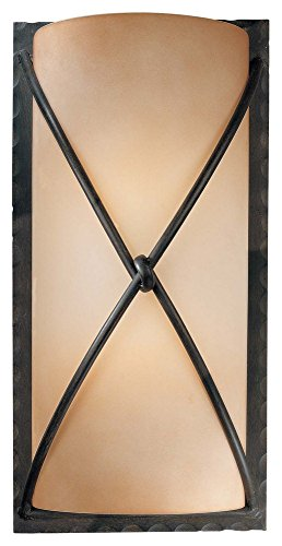 Minka Lavery 1975-1-138 2 Light Wall Sconce, Aspen Bronze Finish by Minka Lavery
