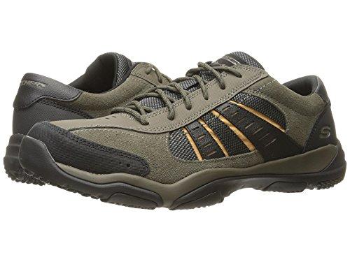 [SKECHERS(スケッチャーズ)] メンズスニーカー?ランニングシューズ?靴 Classic Fit Larson - Alton Olive Suede 7.5 (25.5cm) D - Medium