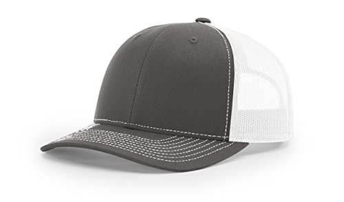 Richardson Charcoal/White 112 Mesh Back Trucker Cap Snapback (Hat Charcoal)