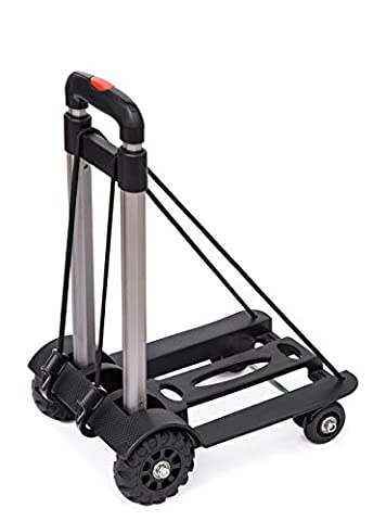 Anleolife Folding Carts With 4 Wheels Grocery Travel Dolly Back Saver Luggage Carts Car Seat Carrier (heavy duty 110lb - Cosco Car Seat Base